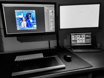 Arbeitsplatz Simon Schurm Photography